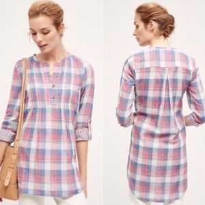 Anthropologie Holding Horses Madras Tunic Top